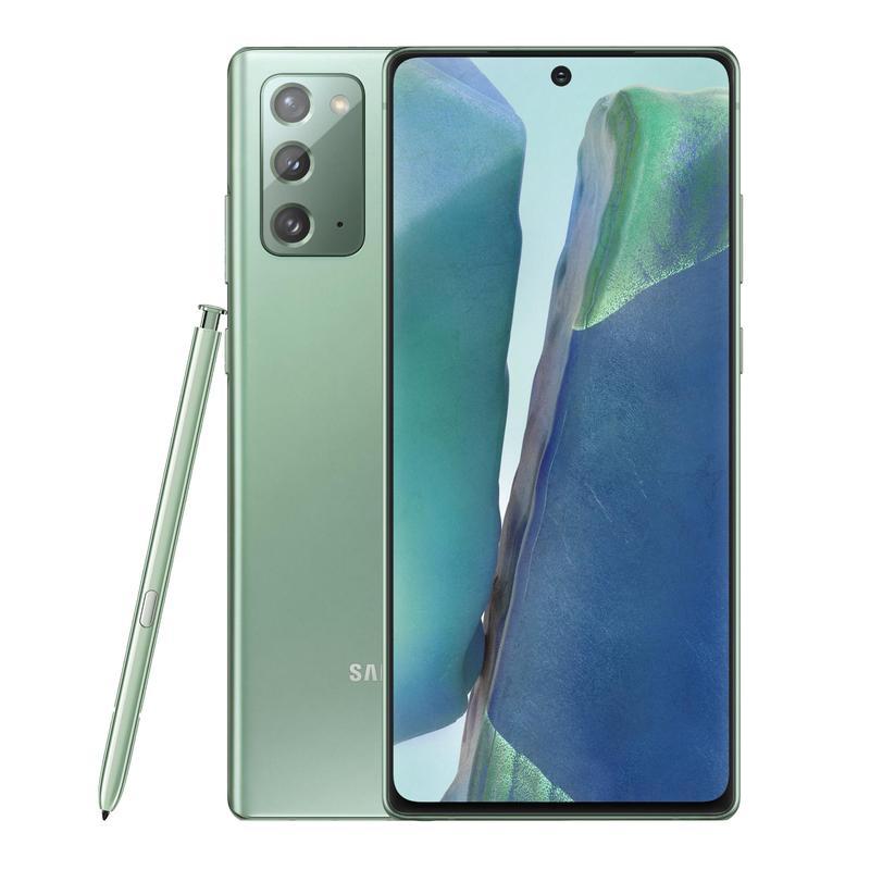 Samsung Galaxy Note20 4G 256GB Mystic Green - 6.7' Super AMOLED+ Display, Tri Camera, 8GB RAM, 256GB ROM, Exynos 990 Octa Processor, Android 10