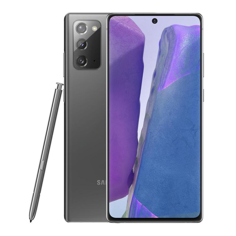Samsung Galaxy Note20 5G 256GB Mystic Grey - 6.7' Super AMOLED+ Display, Tri Camera, 8GB RAM, 256GB ROM, Exynos 990 Octa Processor, Android 10