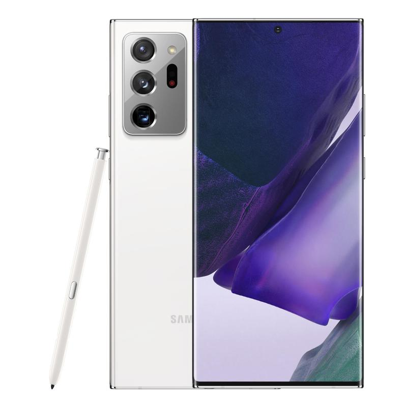 Samsung Galaxy Note20 Ultra 5G 256GB Mystic White-6.9' Super AMOLED+ Display, Tri Camera, 12GB RAM, 256GB ROM Exp Up to 1TB, Exynos 990 Octa Processor