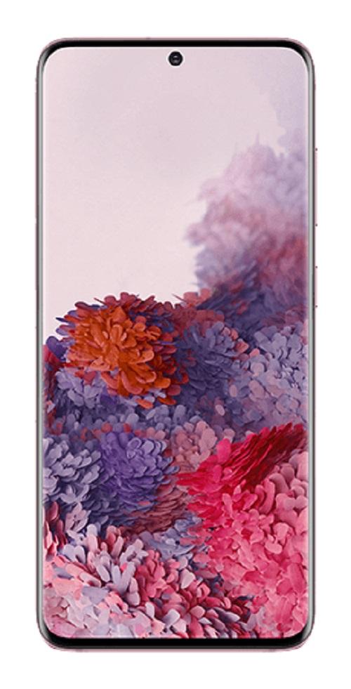 Samsung Galaxy S20 128GB Cloud Pink - 6.2' HD+ Screen, Octa Core Processor, 8GB + 128GB Memory exp to 1TB Via MicroSD, Tri Camera, 4000 mAh Battery