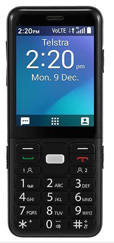 Telstra ZTE EasyCall 5 Black - TELSTRA BLUE TICK - 2.8'Screen Size, Big Button, GPS, Torch,1800mAh Big Battry