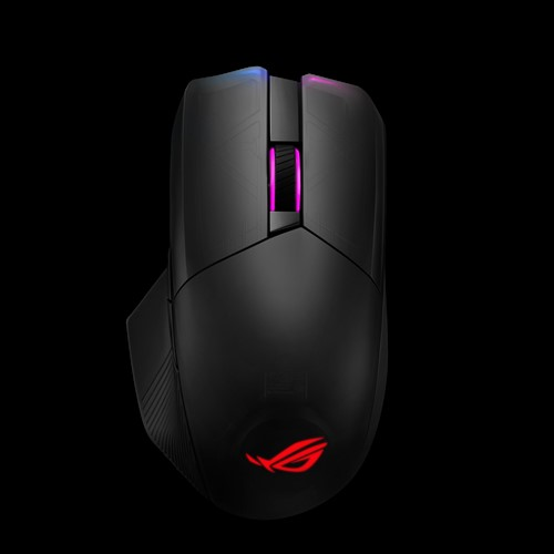 ASUS ROG CHAKRAM P704 Gaming Mouse Wireless Qi Charging16000dpi Tri-Mode Connectivity 2.4GHz/Bluetooth Wired  Aura Sync Lighting
