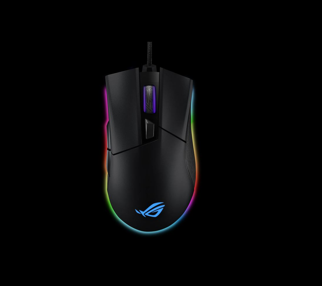 ASUS ROG Gladius II Origin P504  Ergonomic Wired Optical Gaming Mouse Optimized for FPS Aura Sync RGB Lighting