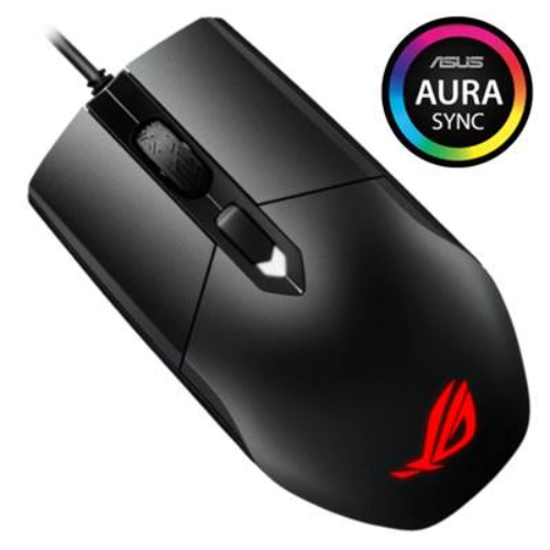 ASUS ROG STRIX IMPACT P303 Lightweight Gaming Mouse Aura RGB lighting with Aura Sync support