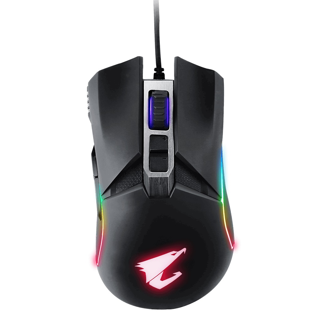 Gigabyte AORUS M5 Optical Gaming Mouse USB Wired 16000dpi 125fps 118g 3D Scroll 50 million clicks Matte Black RGB Fusion On-the-fly DPI Adjustment