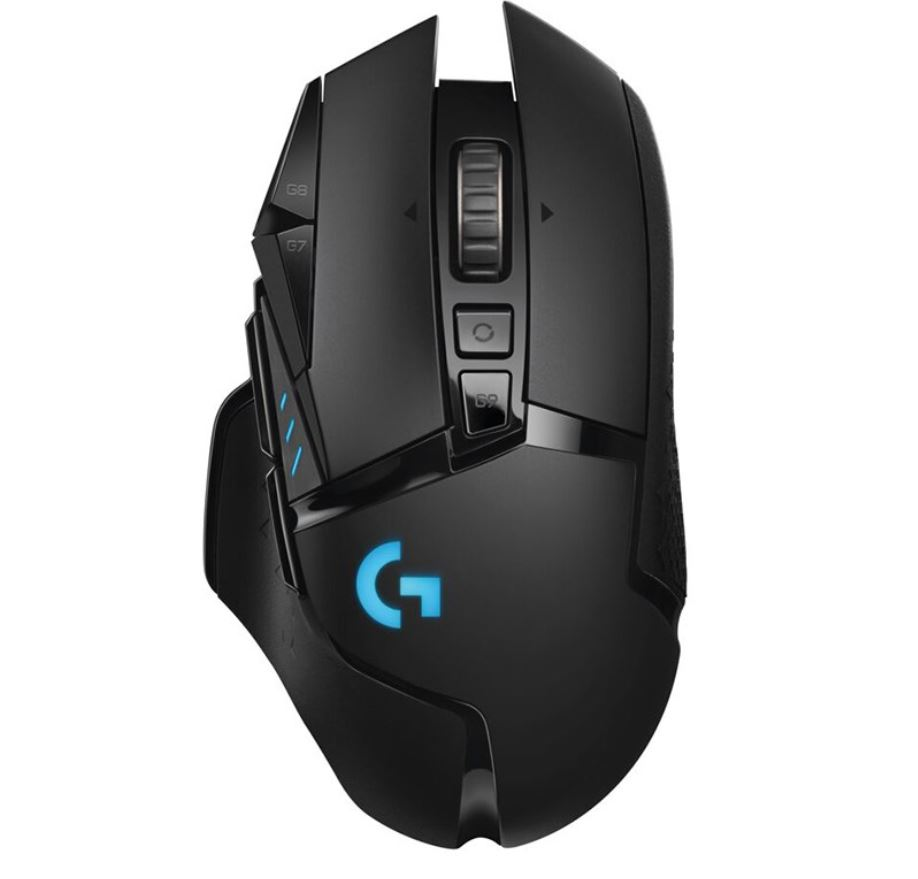 Logitech G502 Lightspeed USB Wireless Gaming Mouse 1ms 16000 DPI Mechanical Button Shifting POWERPLAY RGB Lighting 114g 16g weight Onboard memory 2yr