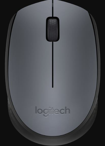 Logitech M171 Grey Reliable 2.4Ghz Wireless Mouse, 1 Year Battery Life