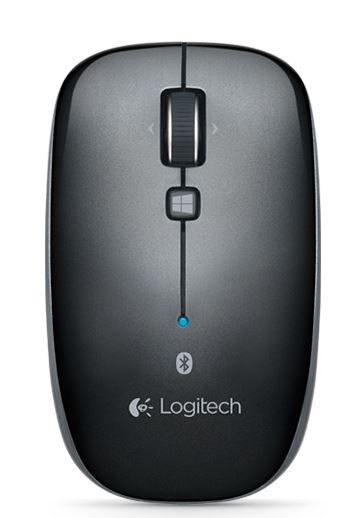 Logitech M557 Bluetooth Mouse Black, 1YR Batt Life, Windows 8 Start screen button Slim ambidextrous design