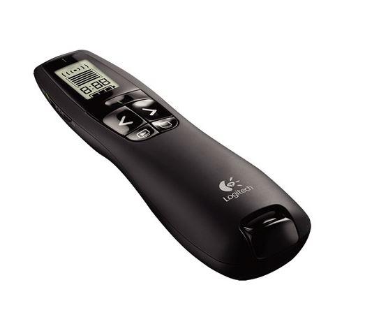 Logitech R800 Laser Presentation Remote LCD display  time tracking 30m Range, 2.4GHz Instuitive slideshow controls ~MILT-R700PRO 910-003508