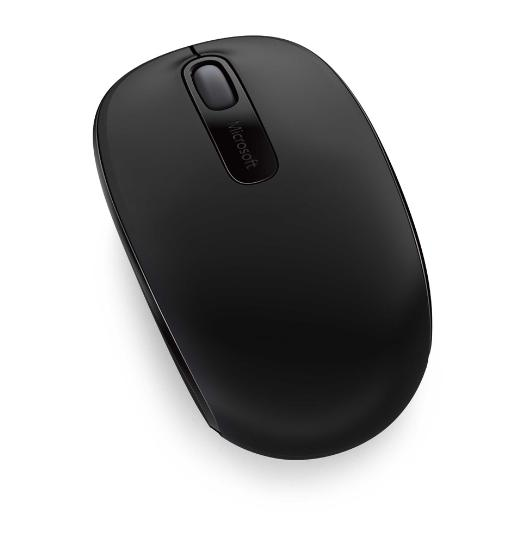 Microsoft Wireless Mobile Mouse 1850 Coal Black Mini USB Transceive