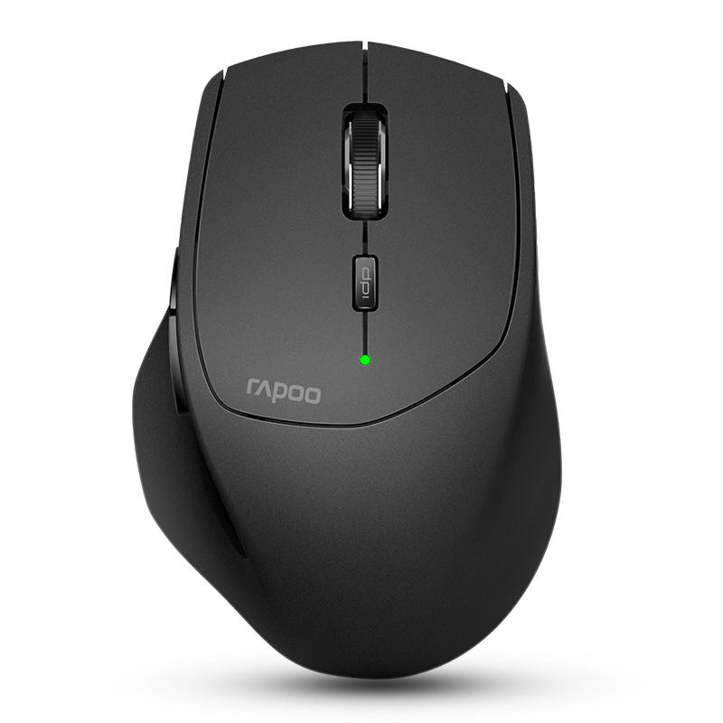 RAPOO MT550 Multi-Mode Wireless Mouse - Adjustable DPI 16000DPI, Smart Switch up to 4 devices, 12 months Battery Life, Ideal for Desktop PC, Notebook