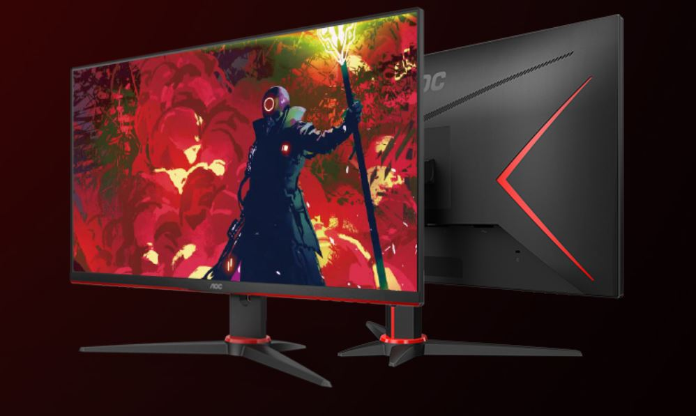 AOC 23.8' 1ms IPS 75Hz Full HD Free-Sync, 1x VGA, 2x HDMI 1x DP, Narrow Border, Tilt Gaming Monitor