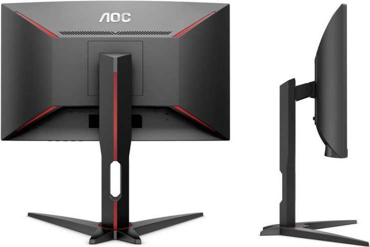 AOC 31.5' 1ms 144Hz Full HD FreeSync Ultra Narrow Border Curved Gaming Monitor, Low Blue Mode Flicker Free - DP/2xHDMI/VGA Tilt VESA100mm