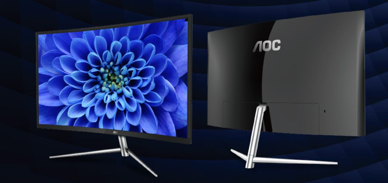 AOC 31.5' Curved Stylish VA Panel 4ms (GtG) Full HD Ultra Narrow Border - DP, HDMI, VGA, Tilt, VESA 75mm Low Blue Mode Flicker Free (LS) MNAO-Q32V3