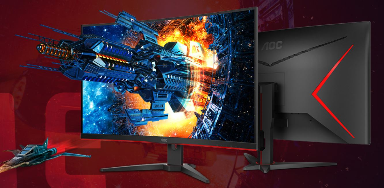 AOC 31.5' Curved 1ms 144Hz 2560x1440 FreeSync ,Ultra Narrow Border, DP, 2x HDMI, VGA Tilt VESA100mm, HDR  Low Blue Mode, Flicker Free, Gaming Monitor