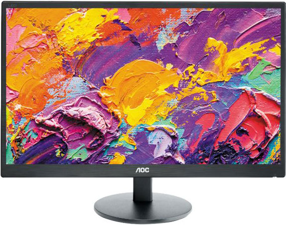 AOC 23.6' 1ms GTG Full HD Monitor - HDMI/DVI/VGA, Headphone out 3.5mm, Tilt, VESA100mm, 2x Integrated Speakers