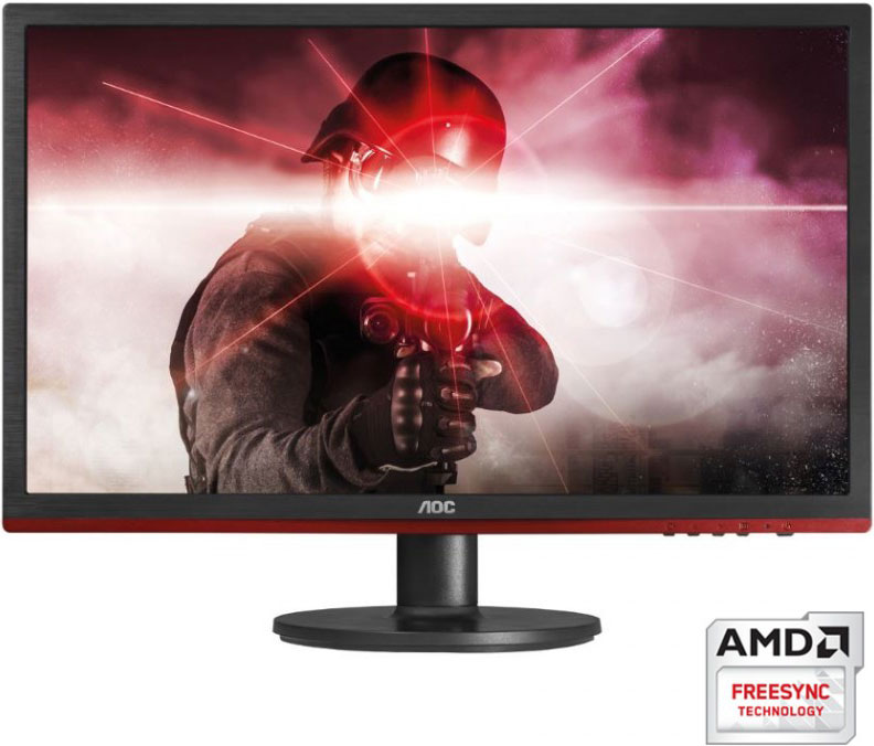 "AOC 24"" 1ms 75Hz Full HD FreeSync Gaming Monitor - HDMI/DP/VGA,Speaker,GameModes,VESA100mm"