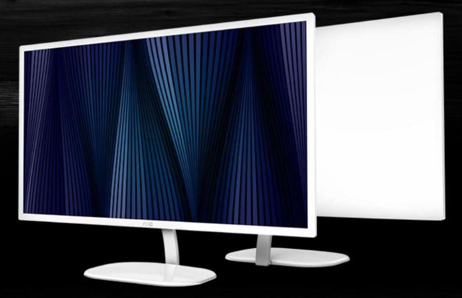 AOC 31.5' VA Panel 5ms QHD 2560x1440, HDMI, DP, 75Hz, 3-sided Narrow Frame, VESA 100 x 100mm wall mountable, White colour