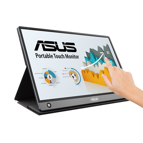 ASUS ZenScreen Touch MB16AMT15.6' IPS, Full HD, 10-point Touch, Built-in Battery 7800mAh, USB Type-C, Micro-HDMI, 0.9KG, 9mm