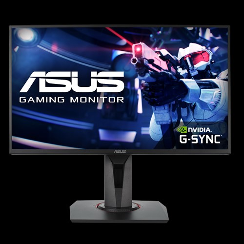 ASUS VG258Q Gaming Monitor - 24.5', Full HD, 1ms, 144Hz, TN, G-SYNC Compatible, Adaptive-Sync, Free-Sync, 1xHDMI/DP/DVI-D, 3.5mm Jack, Earphone Out, 2