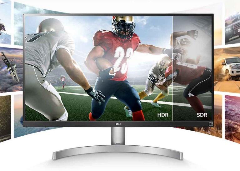 LG 27' 4K UHD IPS, 350 cd/m (Typ), sRGB 99%, 10bit Panel, LED Monitor with VESA Display, HDR 400 (27' Diagonal) (LS)