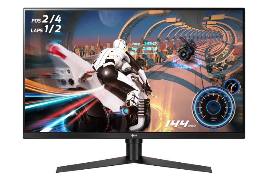LG 31.5' VA IPS-Type 1ms 144Hz 2560x1440 FreeSync Borderless Gaming Monitor w/HAS PIVOT - 2HDMI/DP VESA100mm Height Adjustable 1ms