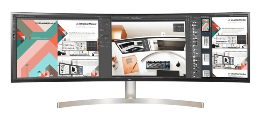 LG 49' IPS 5ms  Curved Monitor 32:9 5K 5120x1440  Dual QHD/HDMI/VESA/USB-C, 3YR