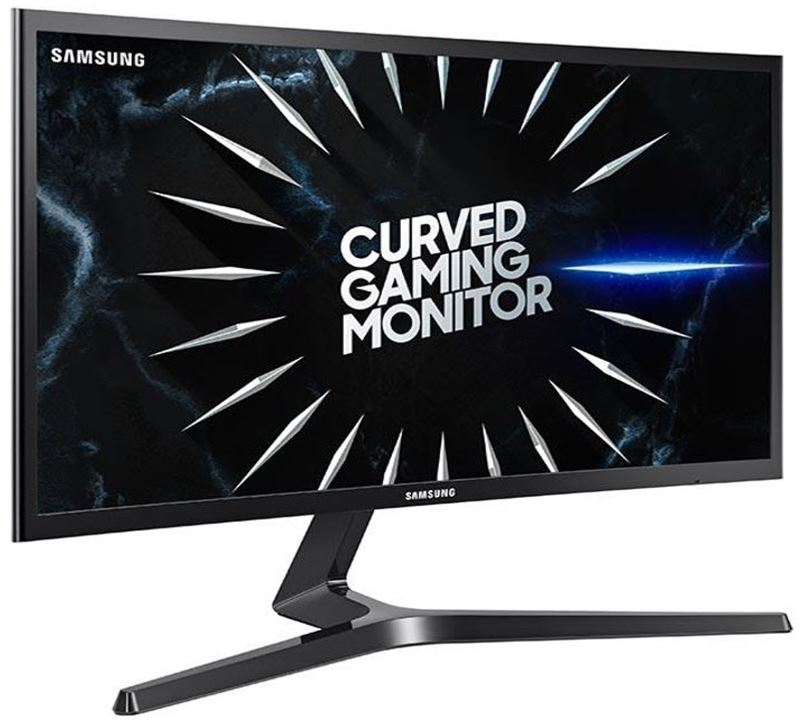 Samsung 24' Curved FreeSync Gaming Monitor FHD 1920x1080 16:9 4ms 144Hz DP 2xHDMI Headphone Tilt Game Mode LC24RG50F