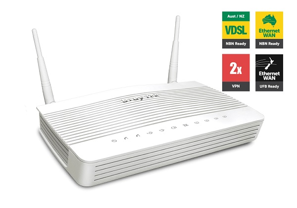 Draytek Vigor2762VAC VDSL2/ADSL2+ VPN Firewall Router 4xGigabit LAN WAN Port 2xUSB for 3G/4G 2xSSL VPN Tunnels VoIP 5GHz WLAN 2xAnte 2yr~MOD-DV2760VAC