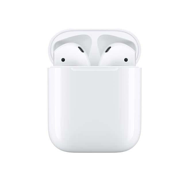 Apple AirPods with Charging Case - Dual beamforming microphones, Dual optical sensors, Rich, high-quality audio and voice