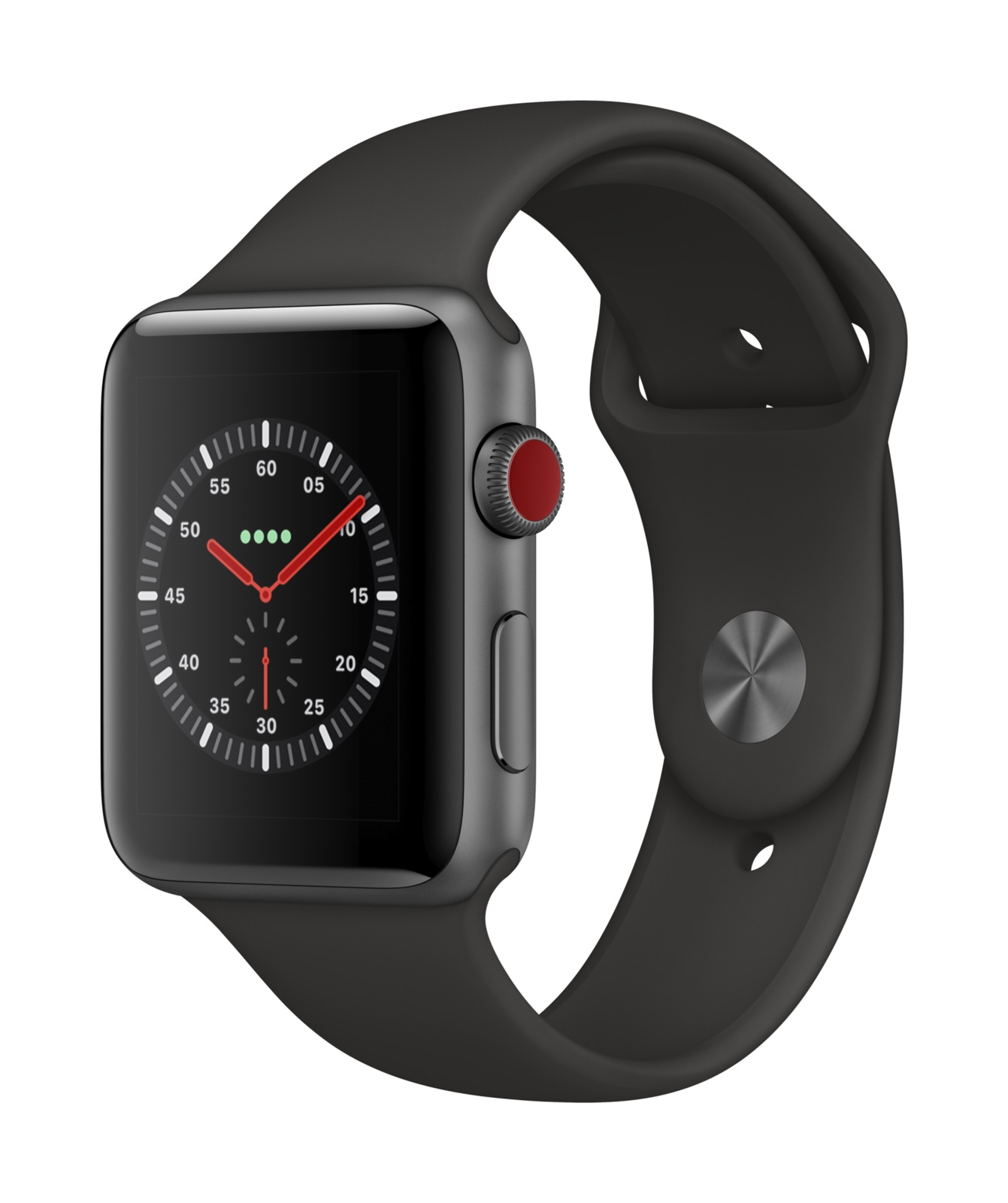 Apple Watch Series 3 GPS + Cell 42mm Space Grey with Black Sport Band (2019)