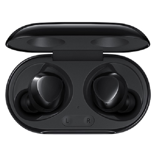 Samsung Galaxy Buds+ Black- Bluetooth v5.0 (LE up to 2Mbps), Compatible Specification- Android 5.0 or later , 1.5GB/ iPhone 7, iOS 10, Water Resistant