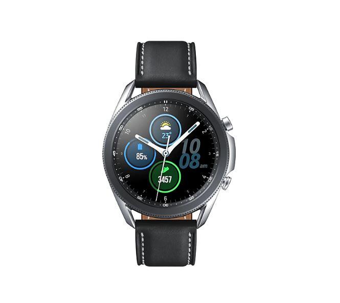 Samsung Galaxy Watch3 Bluetooth (45mm) Mystic Silver - 1.4' Super AMOLED Display,1.15GHz Dual Core CPU, Tizen OS,  8GB ROM,1GB RAM, 340mAh Battery