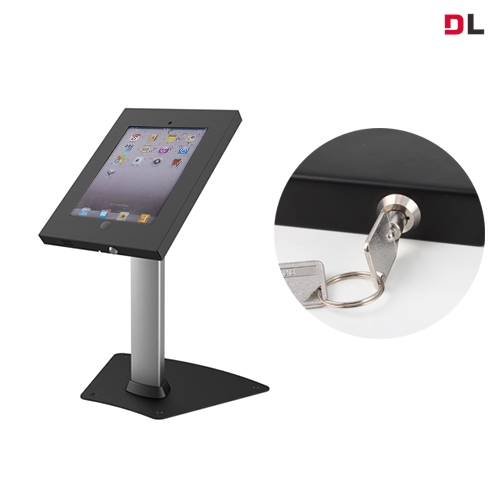 Brateck Anti-Theft Secure Enclosure Countertop Stand for iPad- Black with Adjustable Height Functio For 9.7' iPad/iPad Ai
