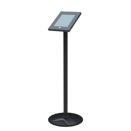 Brateck Anti-Theft Secure Enclosure Floor Stand for  iPad 2,3,4,Air &Air 2 - Black