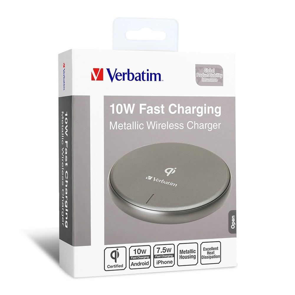 Verbatim Metallic Wireless Charger-Gray