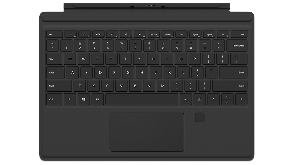 Microsoft Surface ProType Cover  - with Fingerprint Reader - Black(Commercial Model)