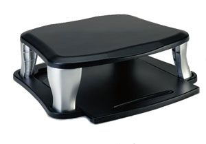 Targus Universal Monitor Stand Sliding with Slide-out Tray/ Position Heights Adjust 3.75'' to 5.75''