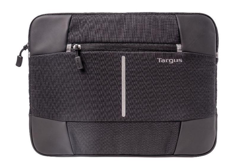 Targus 13-14'' Bex II Laptop Sleeve - Weather-resistant  rip-stop fabrication - Black with black trim