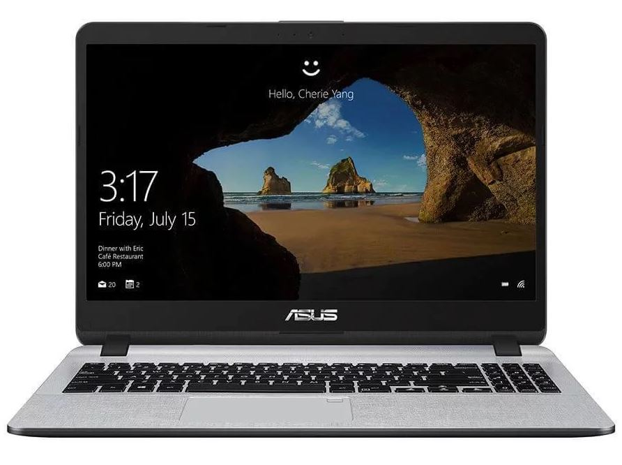 ASUS Vivobook A507UA Notebook 15.6' HD Intel i5-8250U 8GB DDR4 256GB SATA SSD UHD 620 WiFi BT VGA Webcam Windows 10 Pro 1.68kg 21.9mm Chiclet KB