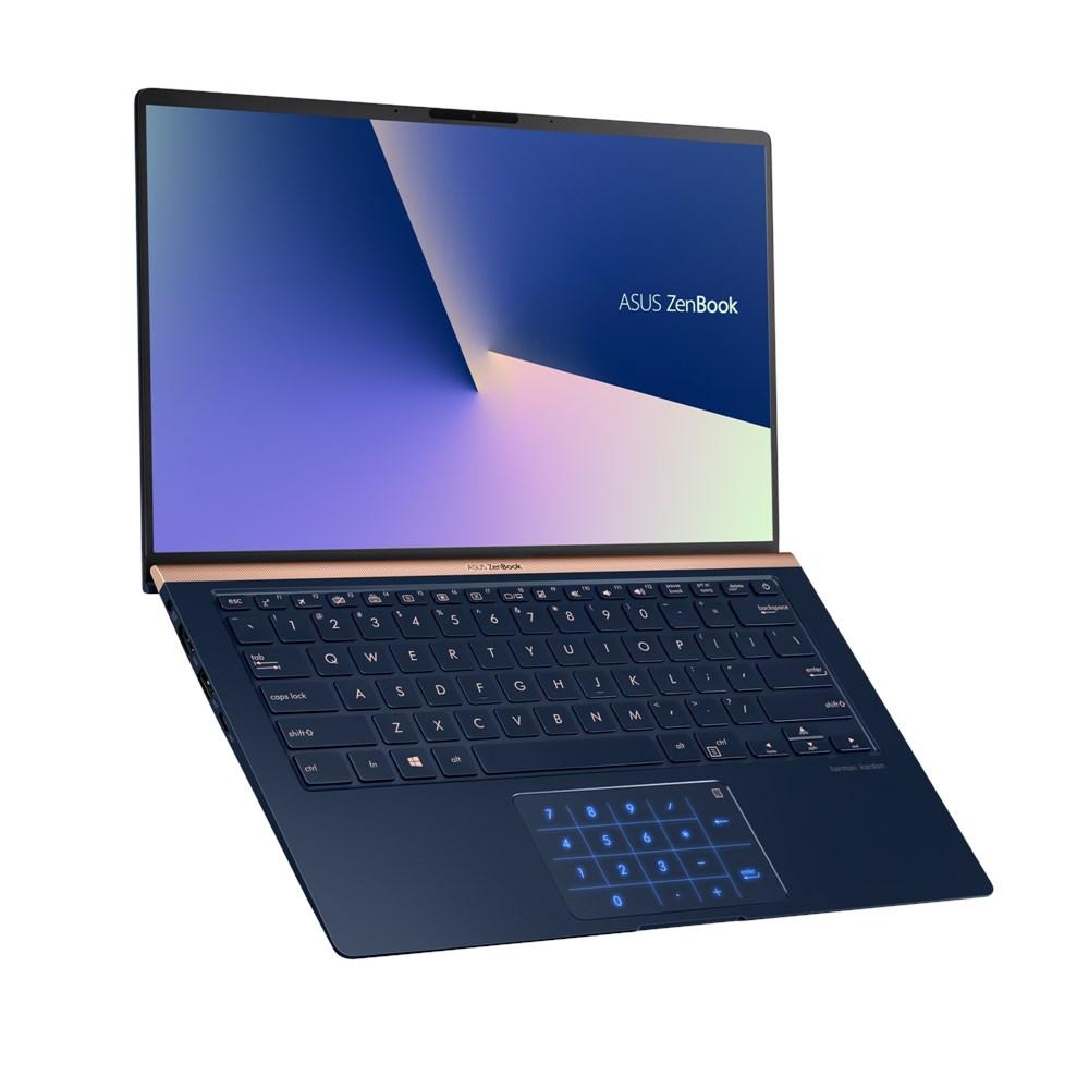 ASUS Zenbook UX433FN 14' FHD Intel i7-8565U 16GB 512GB M.2 SSD MX150 2GB Windows 10 Pro Backlit KB 1.1kg 15.9mm Royal Blue ~UX430UN-GV060R