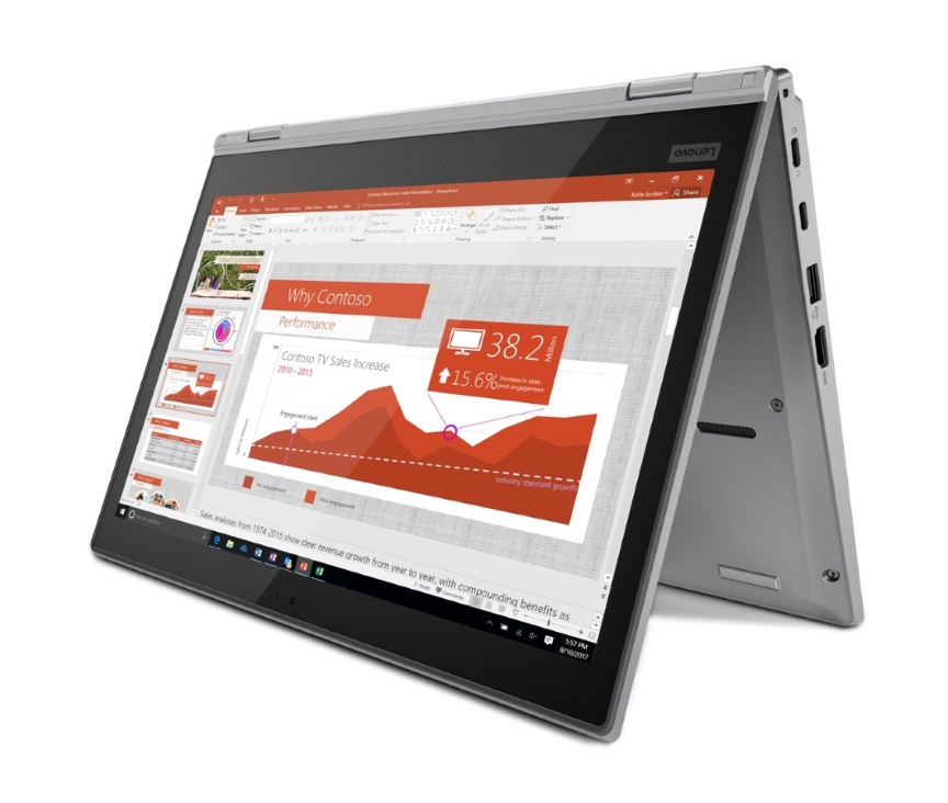 Lenovo ThinkPad L380 Yoga 2-in-1 Notebook, 13.3' FHD Touch Intel i7-8550U 8GB RAM 256GB SSD Win10 Pro USB-C Backlit KB 1.56kg 18.8mm
