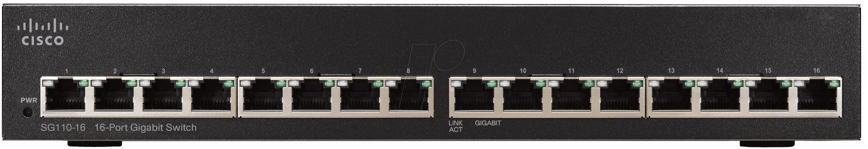 CISCO 16-Port Gigabit Unmanaged Switch