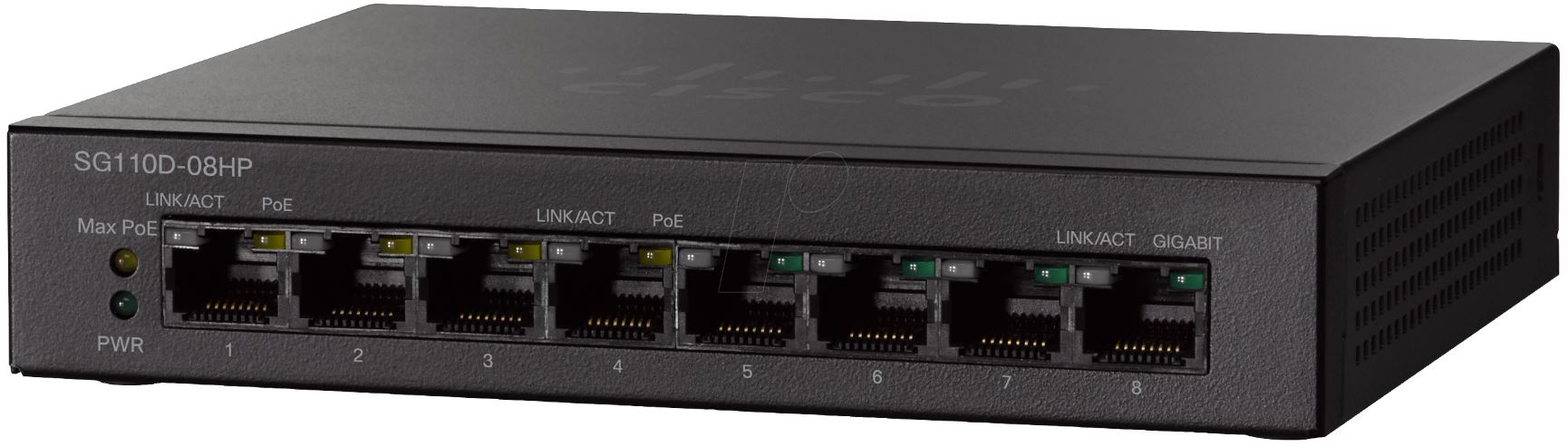 Cisco 8-Port (4 x PoE) Gigabit Desktop Switch (32W)