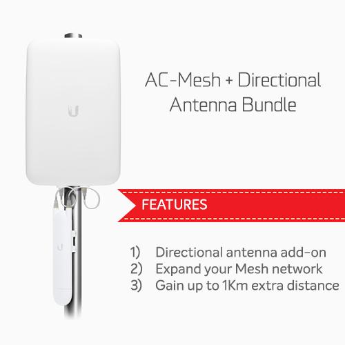 Ubiquiti Unifi AC Mesh  Directional Antenna Bundle - Combines UAP-AC-M and UMA-D for a long range Mesh coverage solution