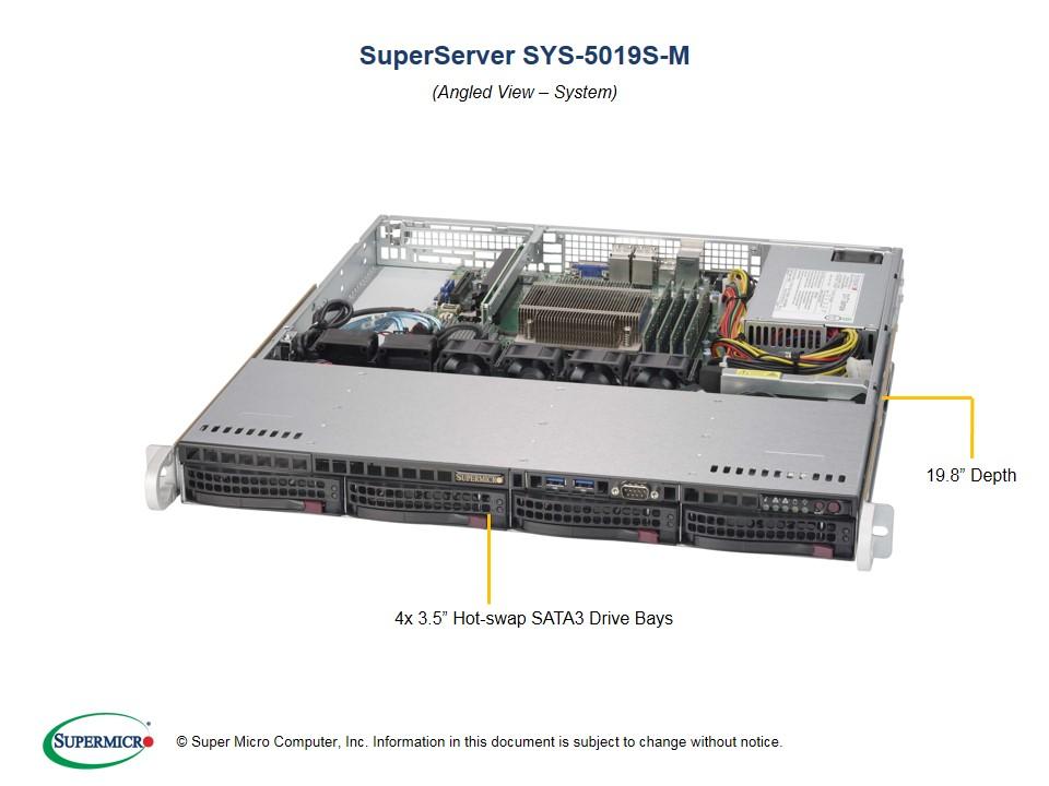 BizCor - Unifi NVR, 1RU, Intel Xeon E3-1225V6, 8GB ECC DDR4, 4 x 3.5' HS HDD Bays, 350w PSU, 3 Year Warranty