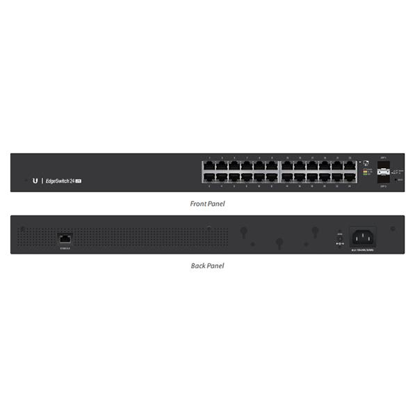 Ubiquiti EdgeSwitch 24 - 24-Port Managed Gigabit Switch, 2 SFP, Layer 2 and Layer 3 Capabilities