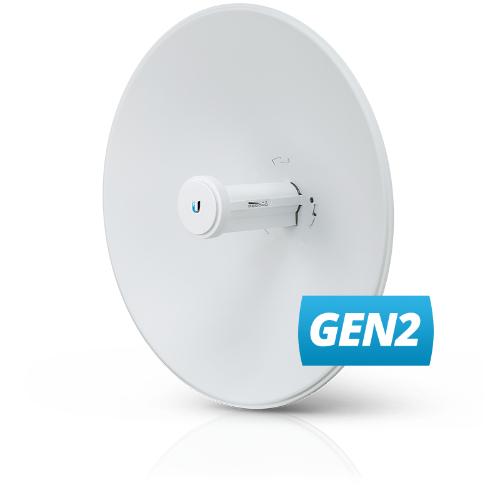 Ubiquiti PowerBeam 5AC Gen2 25dBi 5GHz 802.11ac 2x2 MIMO Antenna, 25+ km