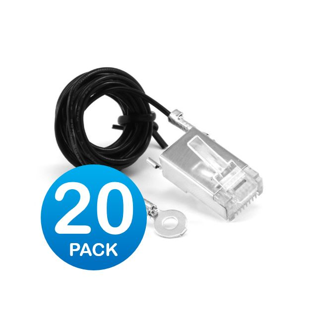 Ubiquiti Tough Cable Connector, with Ground Cable, Sheilded - Pack of 20x