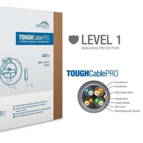 Ubiquiti Tough Cable pro lvl 1 305m CAT5e up to 1000Mbps support